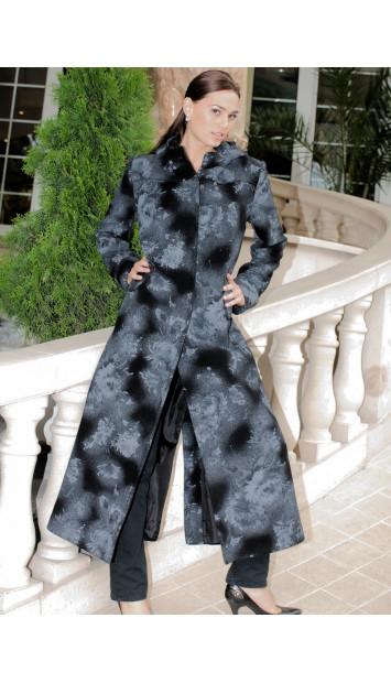 Kabát čierny Galina - 39767