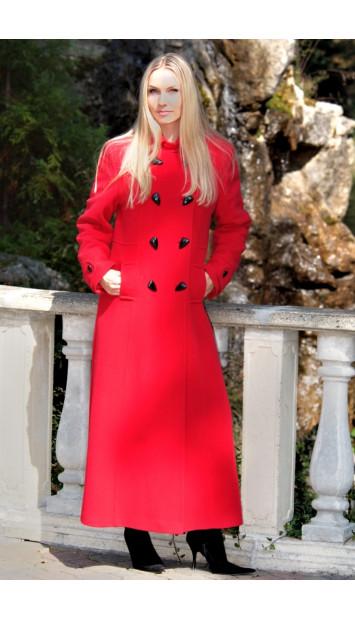 Kabát červený Ingrida - 39789