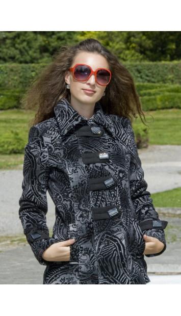 Kabát čierny Františka - 4004