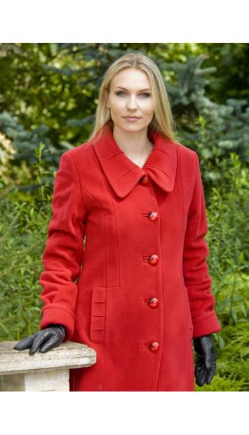 Kabát červený Laura - 4007
