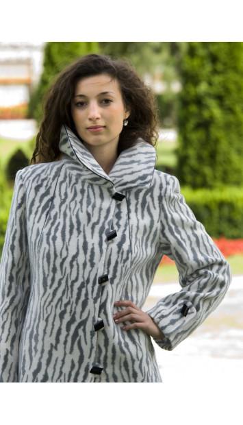 Kabát sivý Medard - 4016