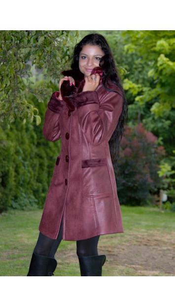 Kabát bordový Jenue -  4090.4F.2