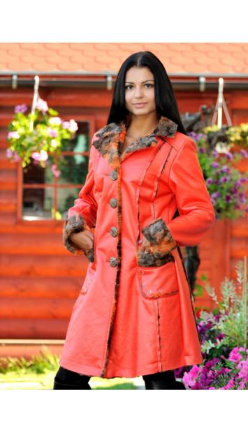 Kabát  červený Jenue - 4090.4ČE