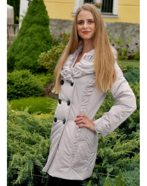 Kabát  biely Flora - 5043.3 K