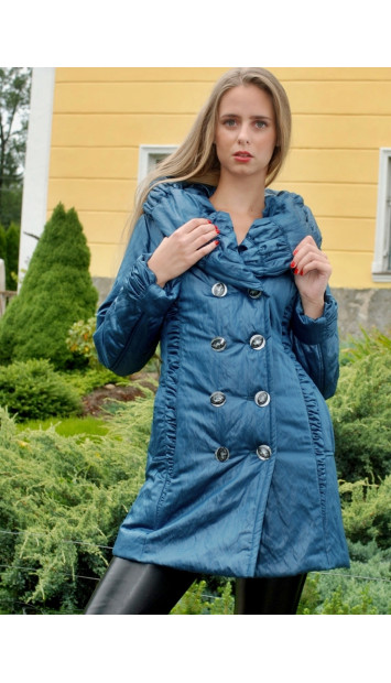 Kabát  modrý Flora - 5043.3 M